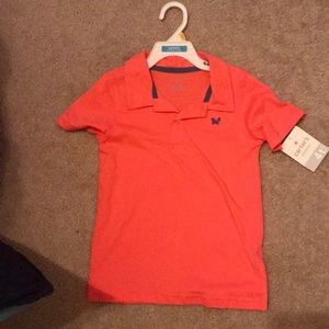 Toddler boy Coral polo w/crab